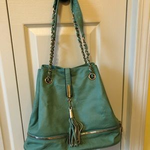 Handbags - light turquoise/ teal purse